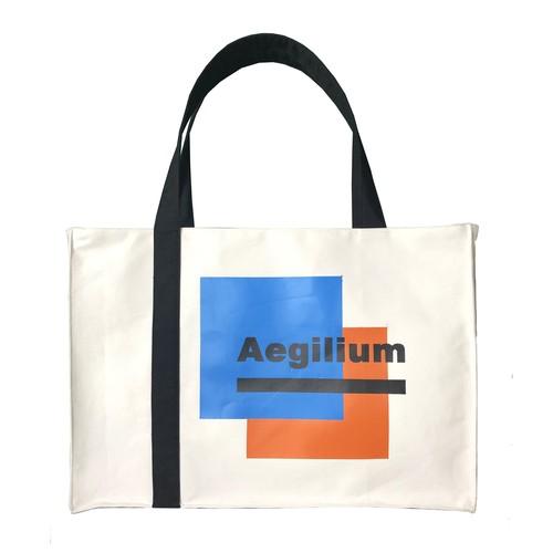 Aegilium print tote bag White