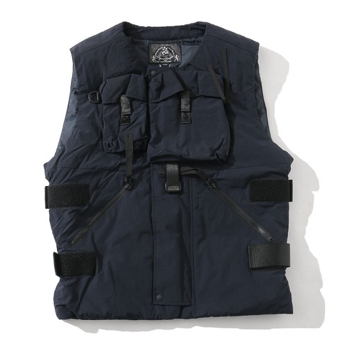 "BAL ""SO EXCLUSIVE"" BODY ARMOUR DOWN VEST(NAVY)"