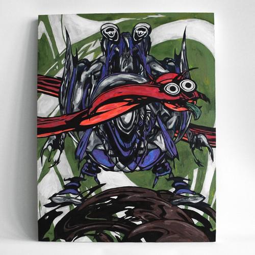 『せのー』painting on wood panel