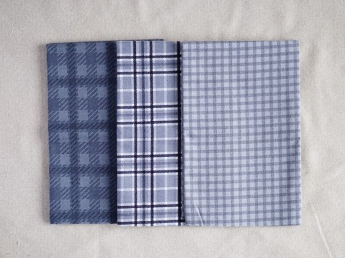Moda Yuletide Gatherings Flannels グレー系カットクロスセット1