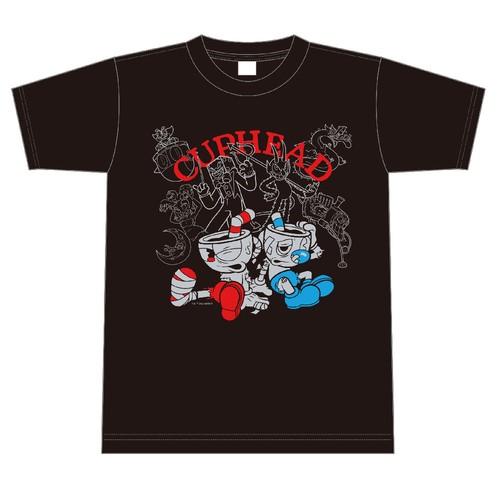 CUPHEAD ( カップヘッド ) TシャツC 黒 サイズS~XL / エンスカイ