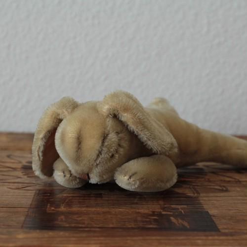 167 アンティークシュタイフ 眠りうさぎ Floppy Hansi フロッピーハンジー 銀ボタン