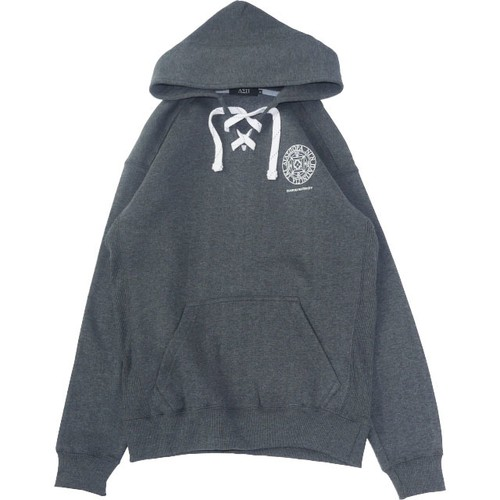 Small Magic Circle Lace Hooded Sweatshirt (Charcoal)