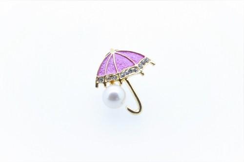 アコヤ真珠 ピンブローチ〈アンブレラ〉ピンク