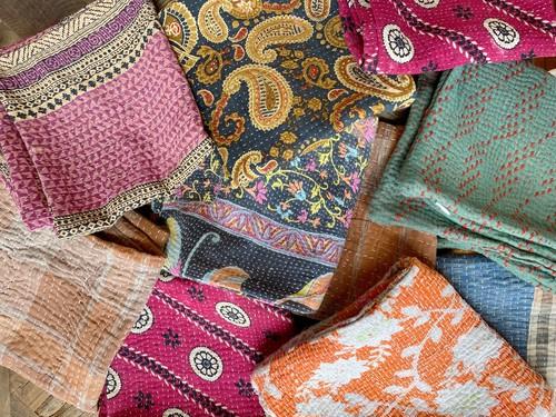 〈vintage〉kantha cushion cover④