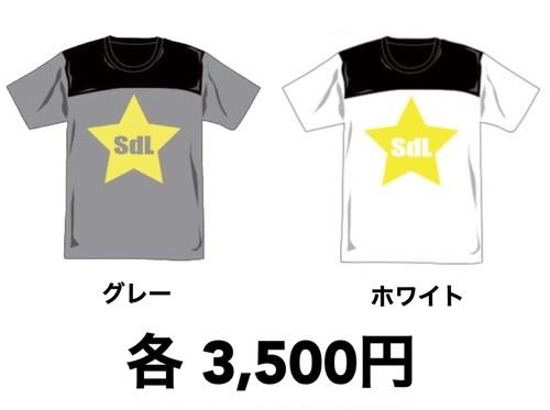 〝SdL〟Tシャツ グレー/ホワイト