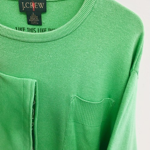LIKE THIS LIKE THAT : 「J.CREW」s/s cotton knit (remake)