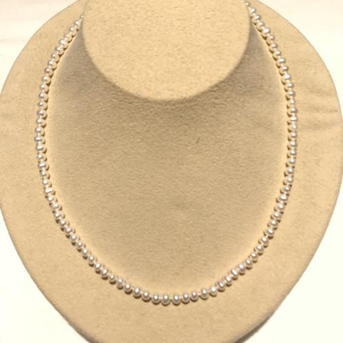ネックレス淡水真珠(白)