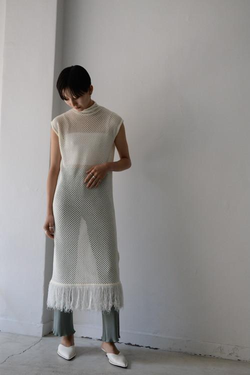 ROOM211 / Mole mesh knit OP (white)