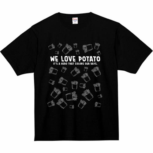 Tシャツ(We Love Potato④ - 黒)
