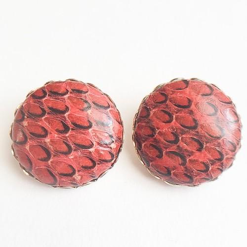 red python earring[e-807]