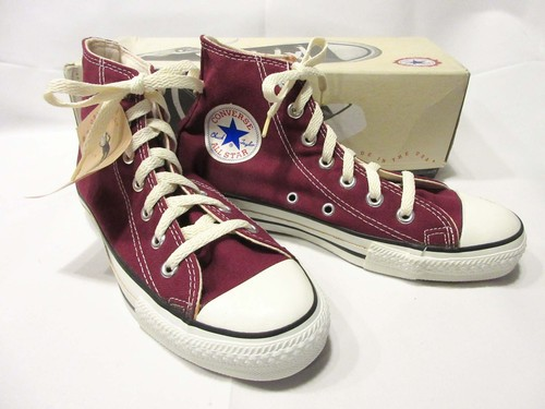 90's CONVERSE ALL STAR / Men's Hi 5 / MAROON  Dead Stock