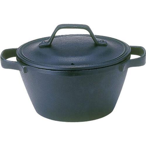 及源鋳造 OIGEN クックトップ 丸 深形 15cm 南部鉄器 鉄鍋 ガスコンロ対応 オーブン対応 1〜2人用 アウトドア 用品 キャンプ グッズ