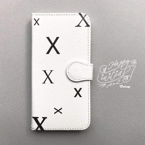ハッピーイニシャル X iPhoneケース 白