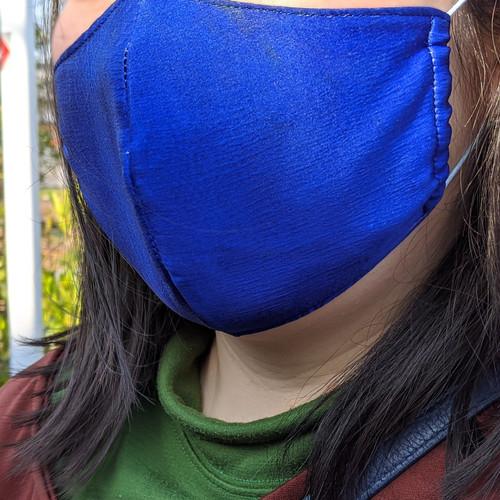 墨流し染マスク ネイビー-msk15
