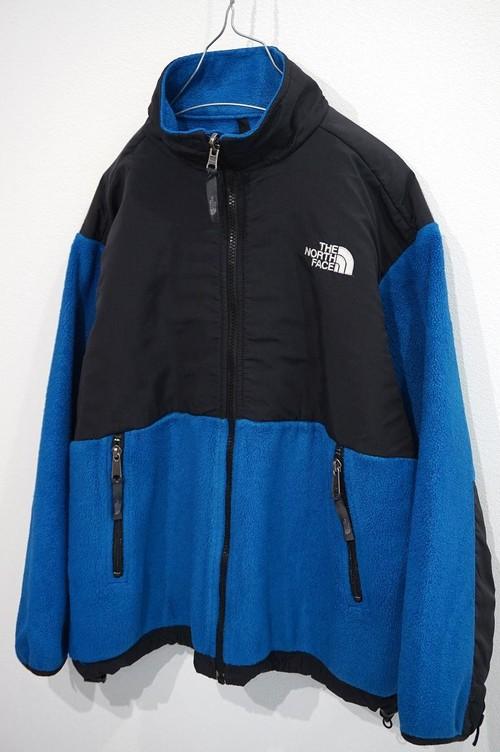 1990's THE NORTH FACE デナリフリースジャケット 青/黒 実寸(XS位) ノースフェイス