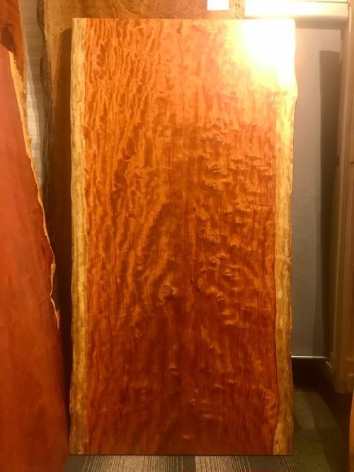≪青山店≫ブビンガ 全面杢 2枚剥ぎテーブル 1810×915-925×50