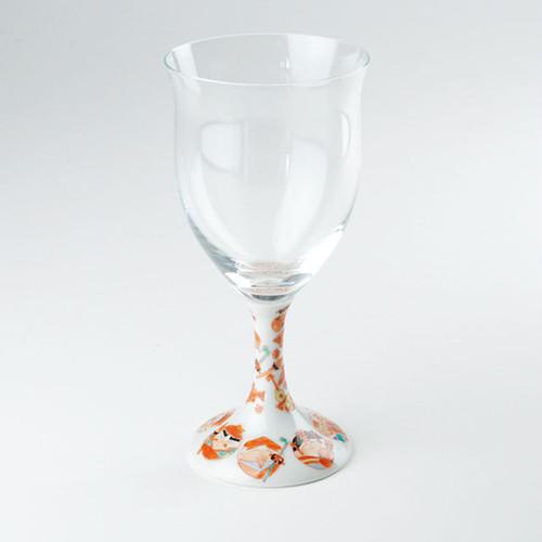 九谷和グラス(ワイングラス) 七福神