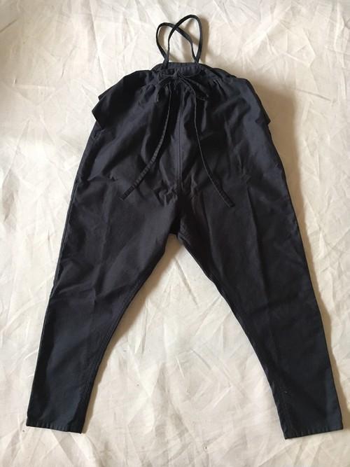サロペット 黒 L サイズ