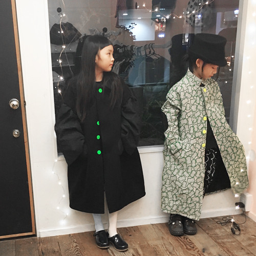 SOLID BEAR JQ STAND COLLAR COAT / LL