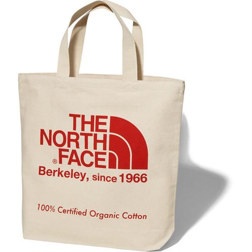 THE NORTH FACE (ザノースフェイス) TNFオーガニックコットントート (TR)ナチュラル×TNFレッド NM81908