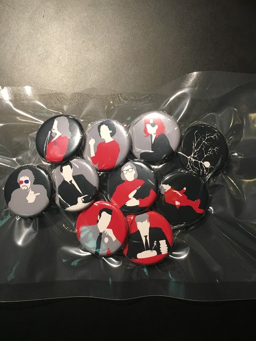 TP Button Badges 10set➕Black bag   ツインピークス  twinpeaks