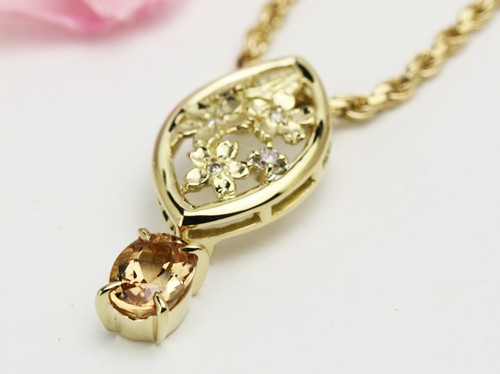 18金の桜の透かし彫(小)ペンダントリフォーム