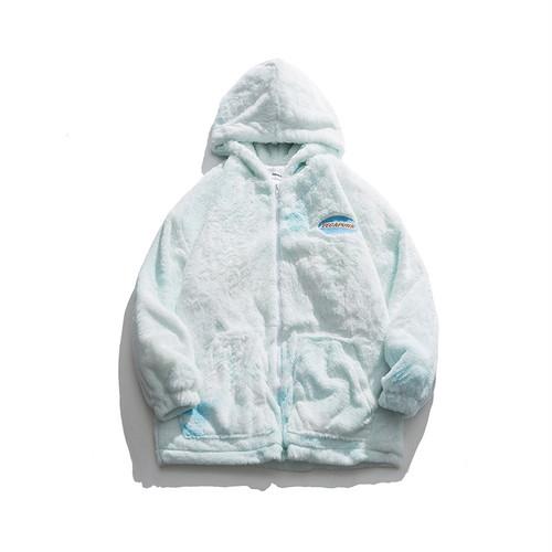★UNISEX VEGAPUNKボアフードパーカー(Blue,Brown) 195