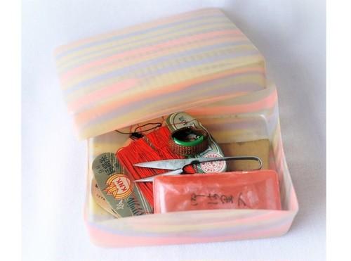 セルロイドお針箱 昭和 裁縫道具箱 ソーイングボックス
