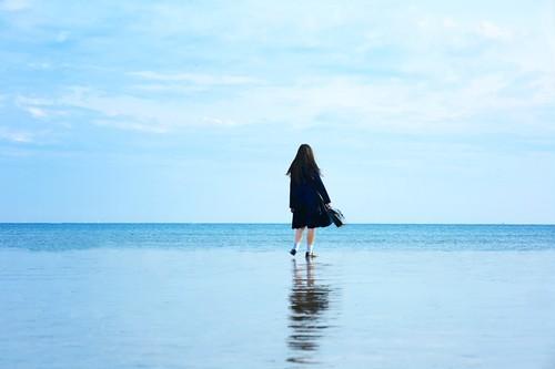 額装写真『冬の静かな海が好き』