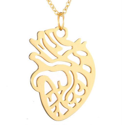 Heartネックレス 心臓 カラー:ゴールド