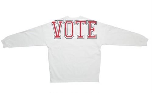 VOTE BIG LOGO L/S TEE - WHITE