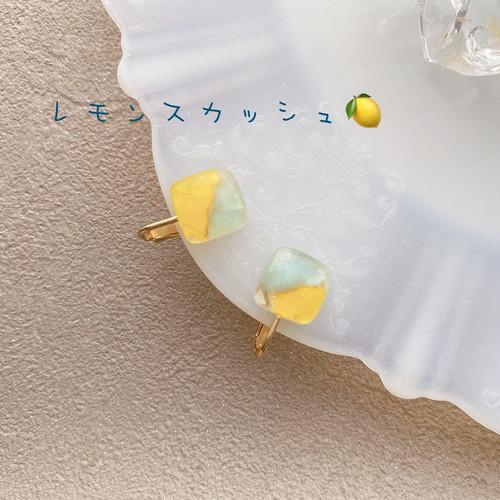 レモンスカッシュイヤリング:sweets of glass