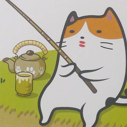 つりねこ(三毛さん)