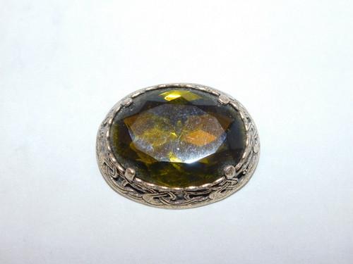 グラスカラーブローチ(ビンテージ) vintage brooch
