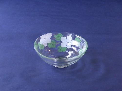日本製 海峰 作 夕顔 耐熱ガラス 抹茶碗