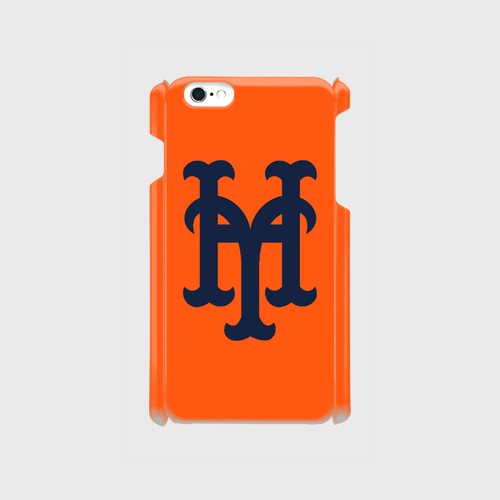 yh Mets iPhone6Plus/6sPlus/7Plus ケース (Orange×Navy)