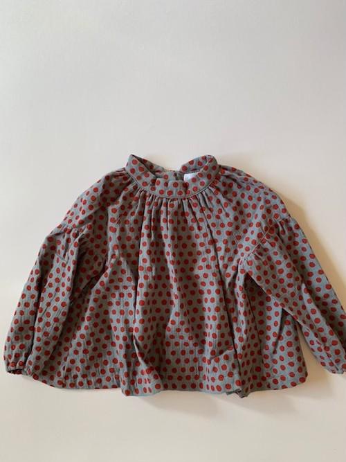 dot shirts col.1 ブルー×赤ドット Sサイズ