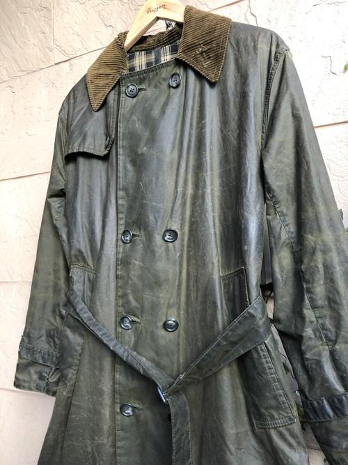 "Barbour waxed cotton coat ""TRENCH COAT"""