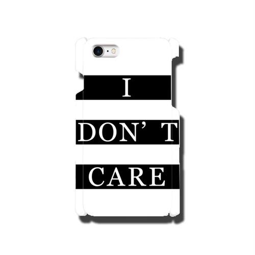 【送料無料】全42機種に対応 メッセージスマホカバー|I DON'T CARE
