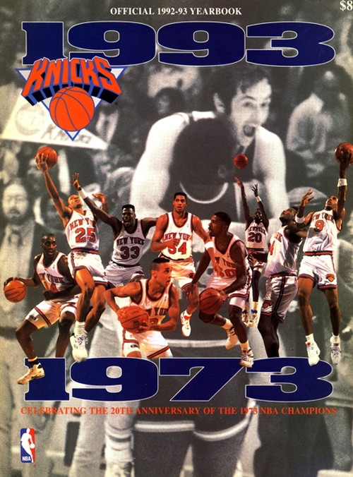 NEW YORK KNICKS OFFICIAL YEARBOOK 1992-1993 20th Anniversary