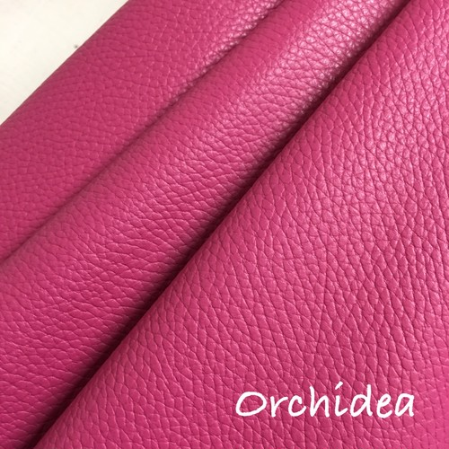 ☆再入荷☆カルトナージュ用イタリア製レザー 36cm×36cm  Orchidea(濃いめピンク)