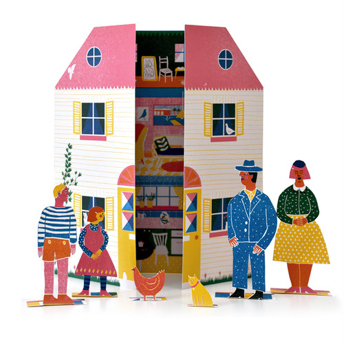 Little Paper Doll's House Toy