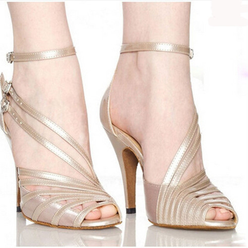 Stylish Soft Sexy comfortable Satin salsa Latin Tango Ballroom  dance shoes Plus size 33-42 women dancing shoes High heels  1132
