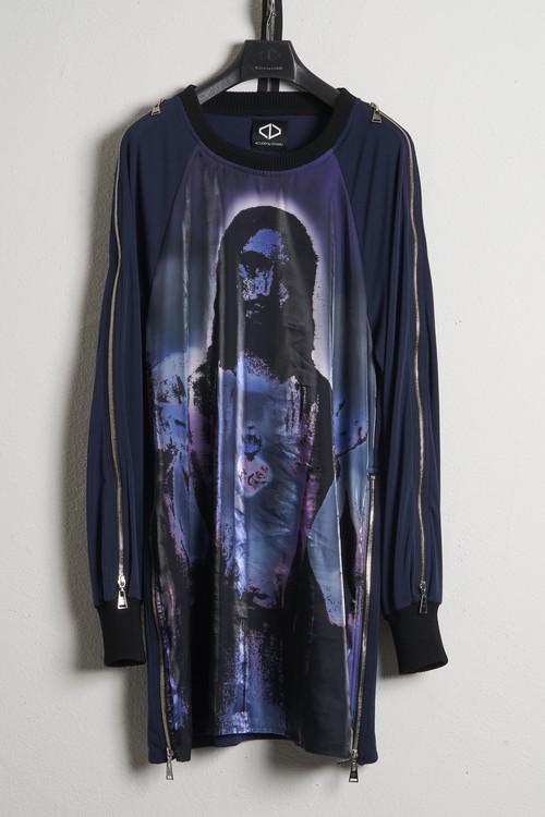 Organza Sweat Shirts-Jesus / Navy [21SS COLLECTION]