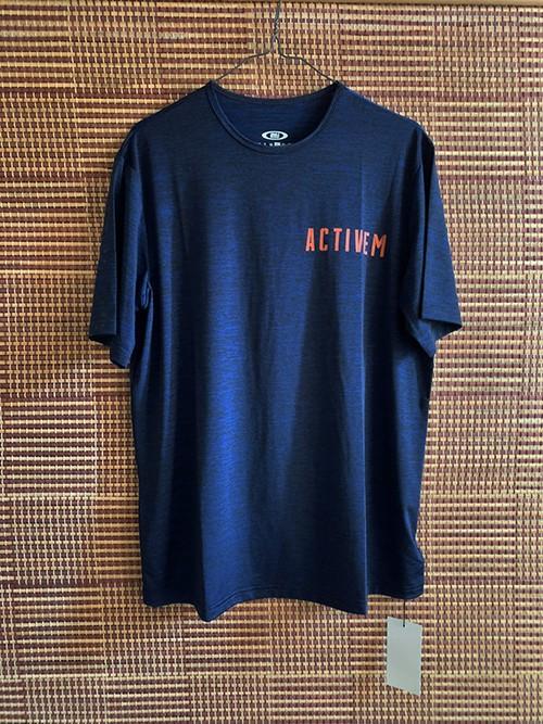 限定【ネイビー】ActiveM ロゴ ドライTシャツ