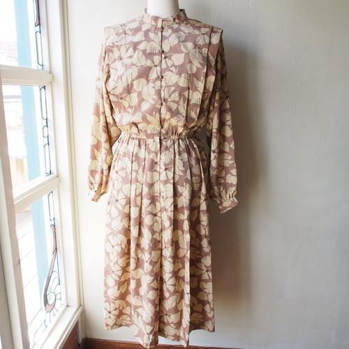 vintage dress / milk tea × leaf