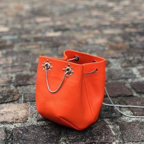 Studs Chain Bag《orange》