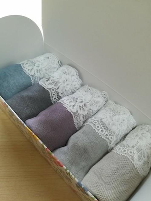 5box☆ヘンプコットン草木染め*締付けフリー美ショーツ(5~8)