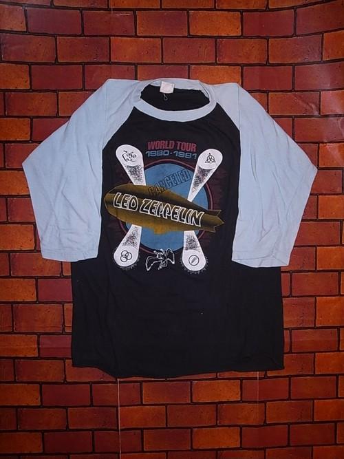 LED ZEPPELIN 1980-1981 WORLD TOUR T-SHIRTS